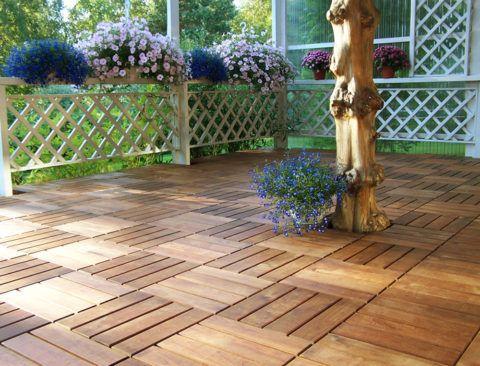 Какую плитку лучше положить на крыльцо: терраса, выложенная садовым паркетом