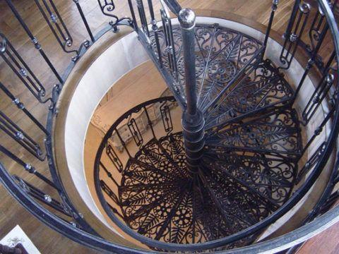 Компактность винтовой лестницы