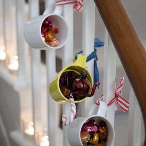 Креативный вариант декорирования ограждения лестницы