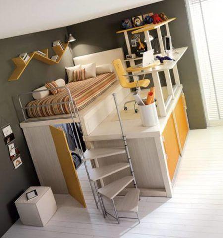 Кровать может представлять собой многофункциональный комплекс