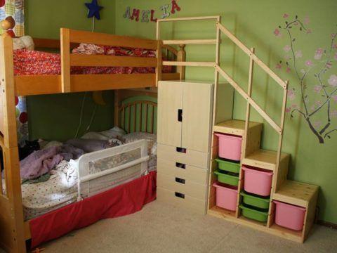 Лестница для кровати может быть изготовлена отдельно
