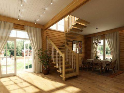 Лестница должна гармонично выписываться в интерьер