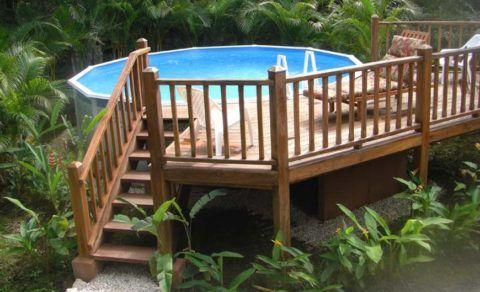 Лестница с площадкой для отдыха