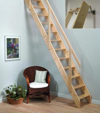 Лестницу на чердак можно сделать из любого дерева с невысокой плотностью