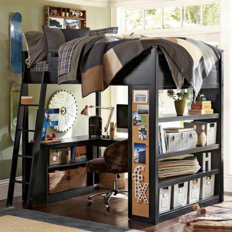 Лестницы деревянные для кровати не занимают много места