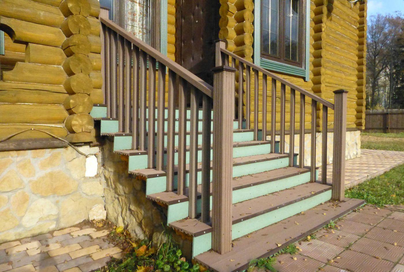 Деревянные ступени у дома своими руками