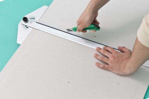 Надрезанный лист отломится точно по разметке