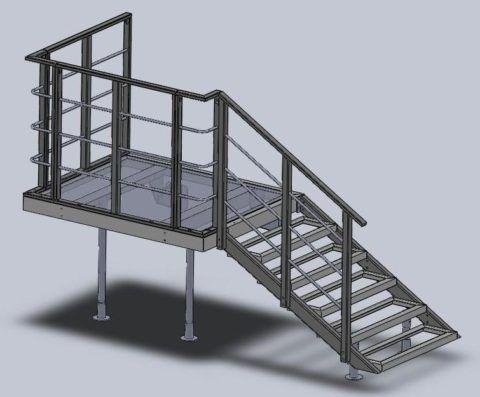 Общий вид простой лестницы