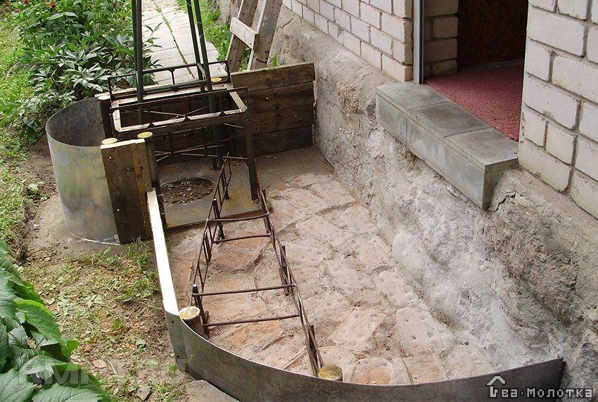 Как сделать полукруглое крыльцо из бетона своими руками фото 32