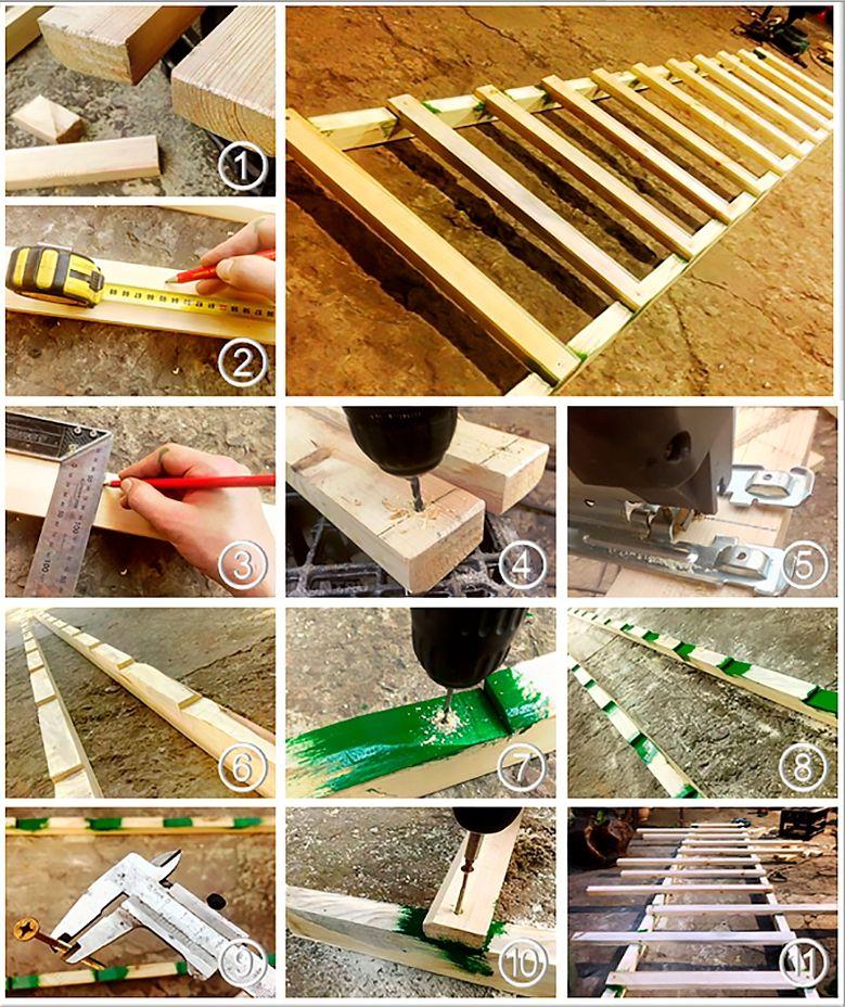 Как сделать лестницу из подручного материала 15