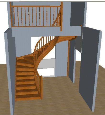 Проект лестницы на второй этаж из дуба