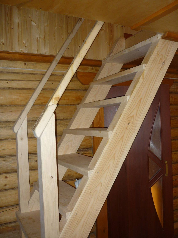 Деревянная лестница дачи своими руками