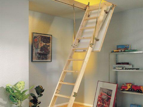 Раскладная лестница чердачная hobby