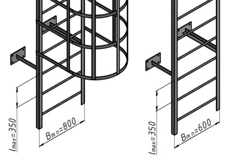 Размеры пожарной лестницы ГОСТ