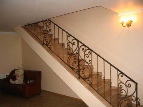 Решетчатые перила для лестниц сварные