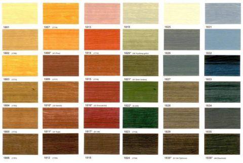 Широкая цветовая гамма краски для древесины