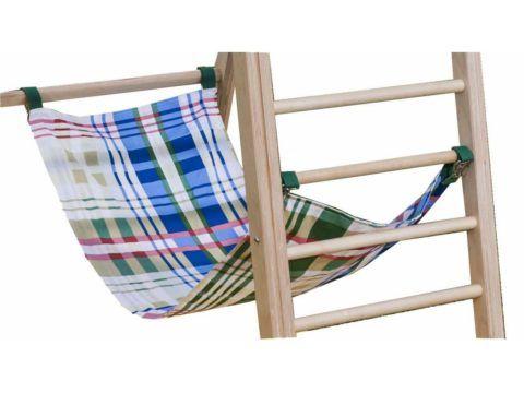 Шведская лестница с турником может оборудоваться гамаком