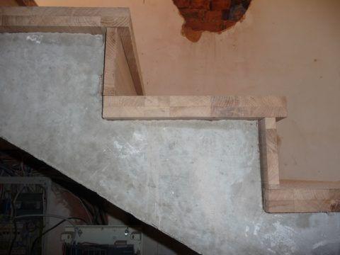 Швы между бетоном и ступенями