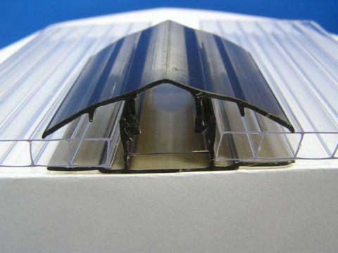 Соединение листов при помощи разъемного профиля из поликарбоната