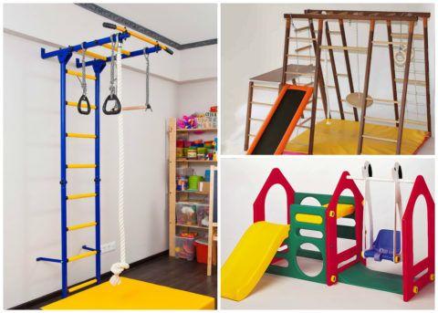 Спортивные лестницы для детей из металла, дерева и пластика