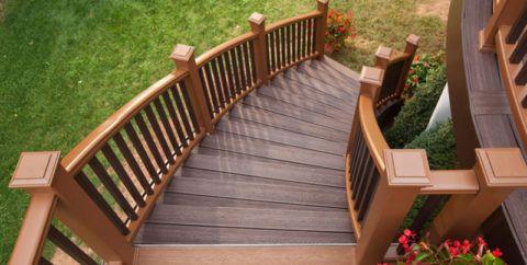 Удобные перила для криволинейной лестницы