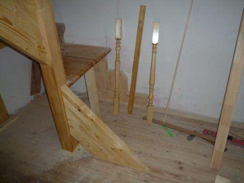 Установка деревянных лестниц: монтаж тетивы