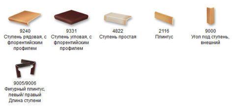 Варианты готовых элементов плитки для ступеней крыльца