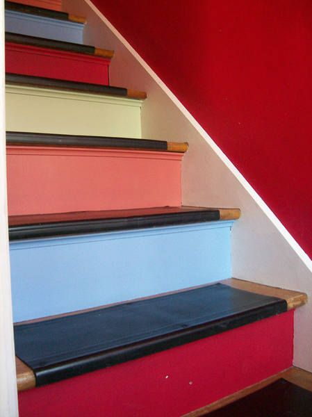 38Покраска ступеней лестницы