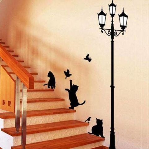 Забавные декоративные наклейки для оформления лестницы