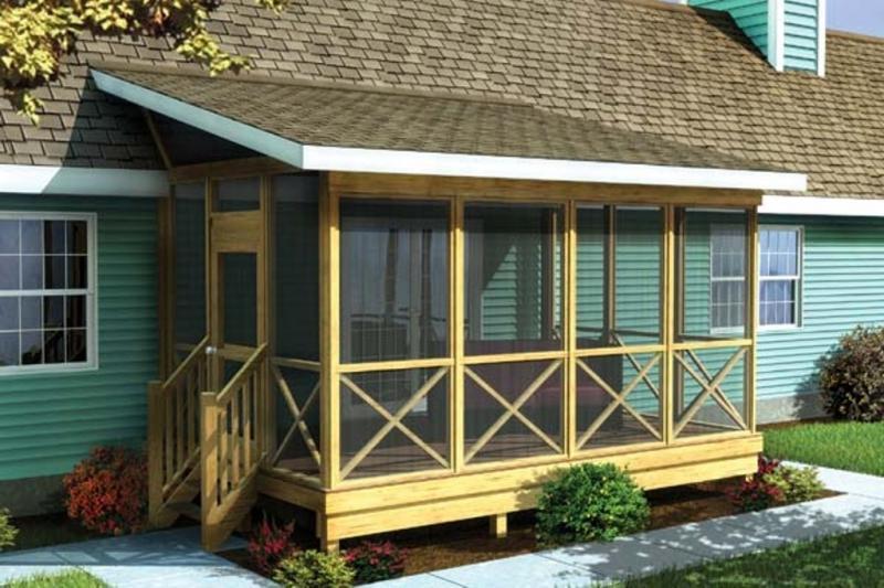Проекты террасы к деревянному дому фото своими руками