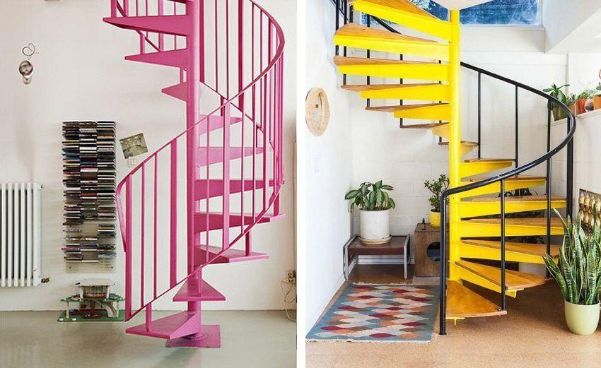 Винтовые лестницы для маленьких проемов