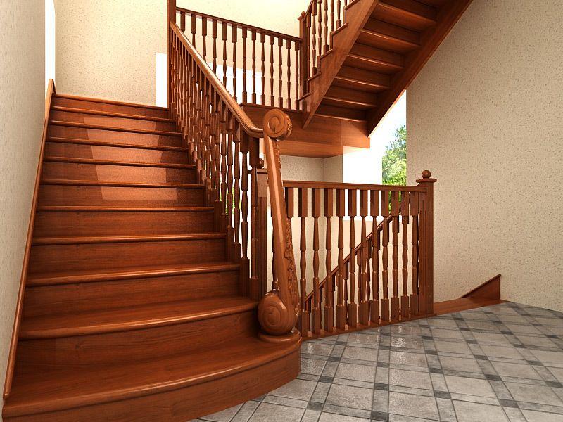 Лестница с промежуточной площадкой