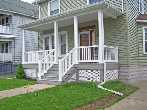 Дизайн дома вход с лестницы
