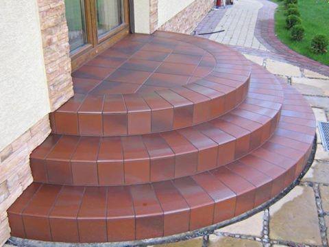 Фото круглых кирпичных ступеней для вашего дома