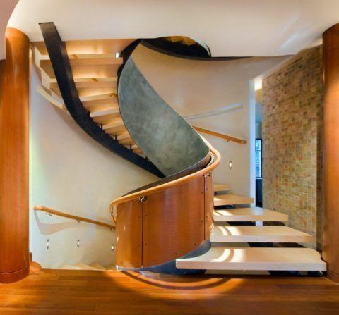 Как сделать красиво лестницу на второй этаж в стиле модерн