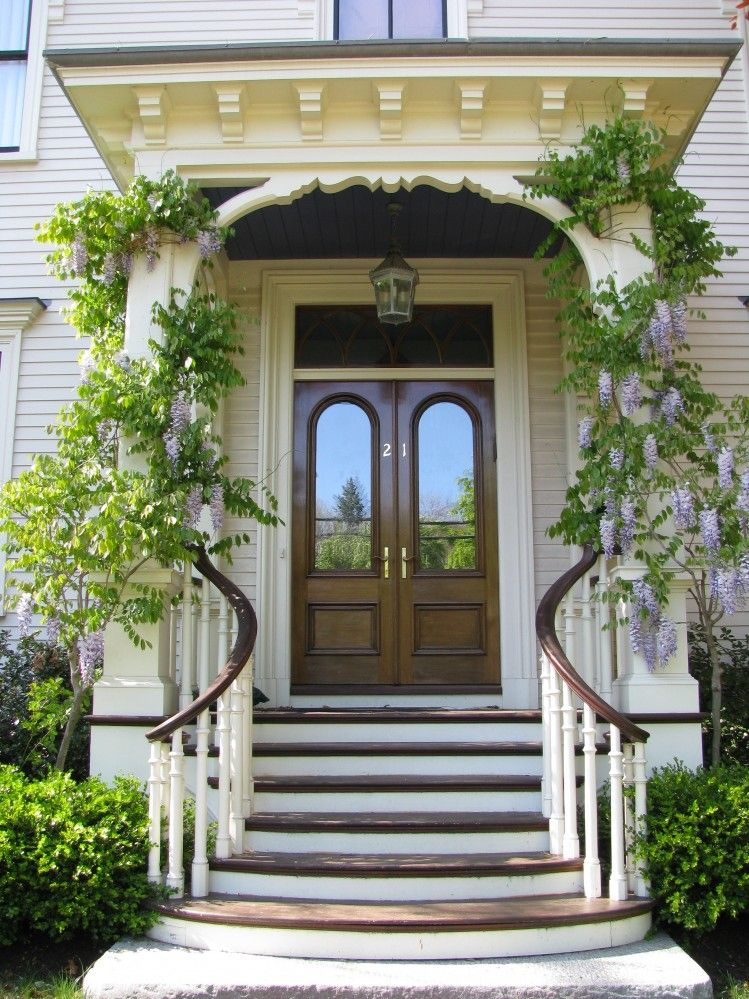 Фото дизайна входных ступеней для дома