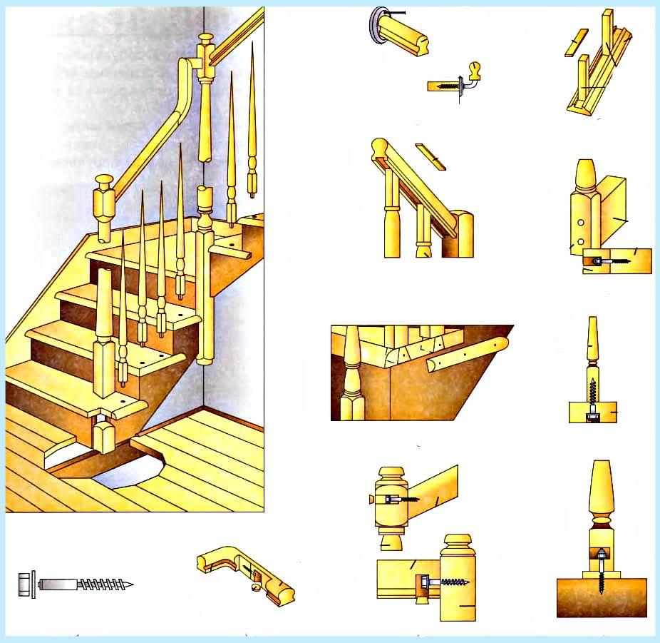самые способы крепления деревянных ступеней к бетонному основанию картинках