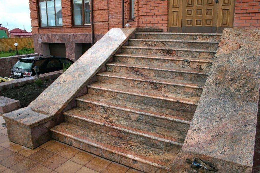Отделка крыльца из бетона