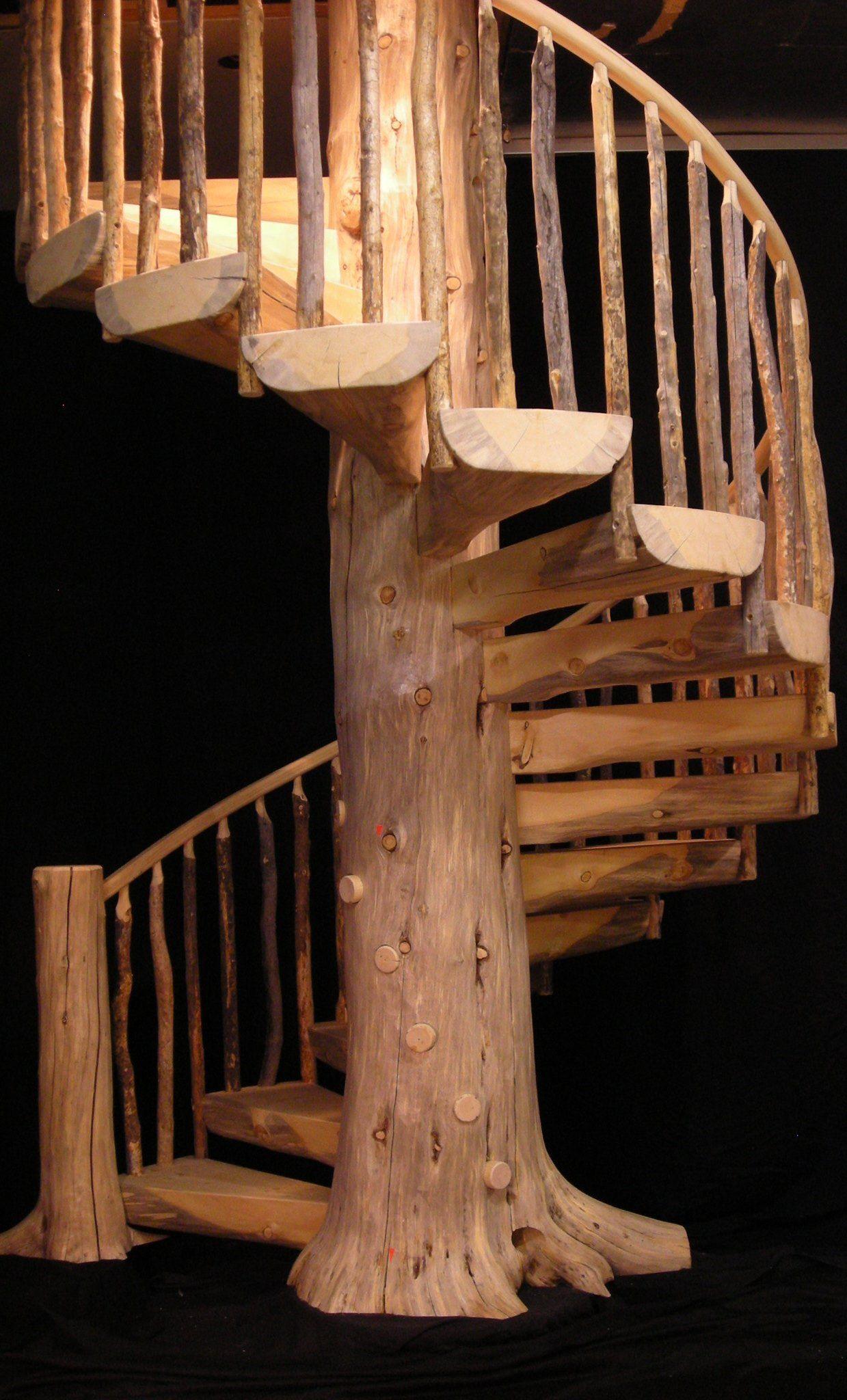 Деревянные резные винтовые лестницы своими руками 112