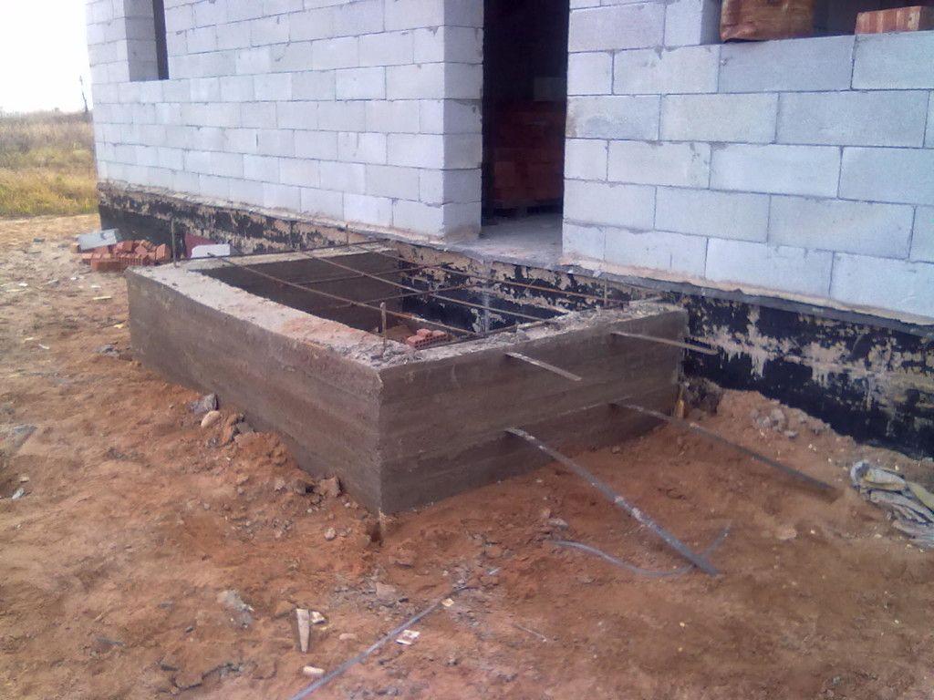 бетонное крыльцо мелкозаглубленного фундамента