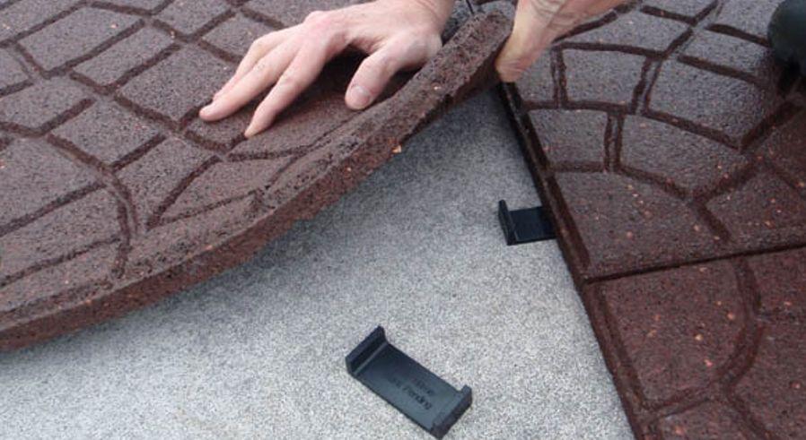 Крепление резиновой плитки