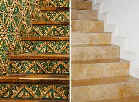 Бетонная лестница своими руками в частном доме, облицованная плиткой