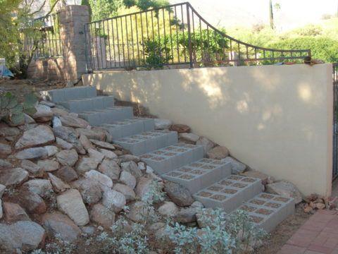 Блочная лестница