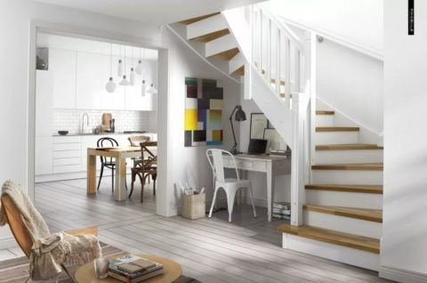 Дизайн интерьера лестницы в скандинавском стиле
