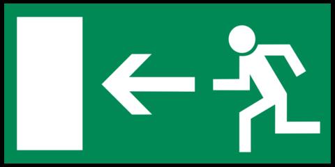 Двери должны открываться в направлении эвакуации
