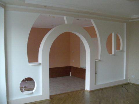 Гипсокартонная внутренняя перегородка в квартире