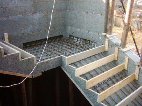Как самому сделать бетонную лестницу: монтаж опалубки