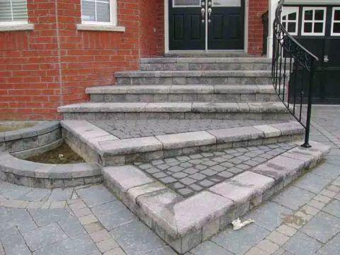 Монолитная входная лестница