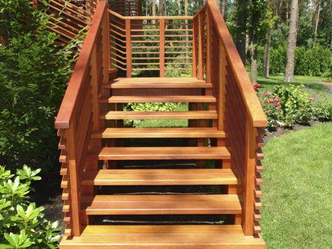 Наружные открытые лестницы