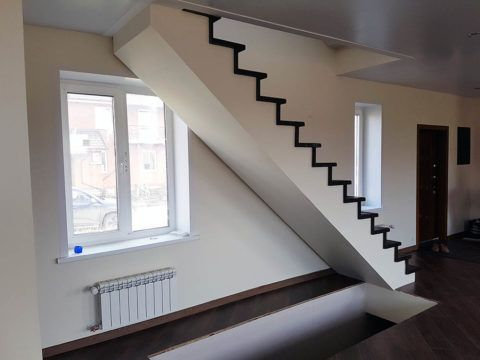 Обшивка гипсокартоном металлической лестницы